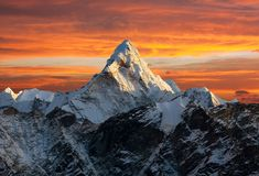 Ama Dablam on the way to Everest Base Camp Stock Image