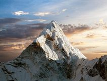 Ama Dablam on the way to Everest Base Camp Royalty Free Stock Image