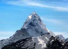 Ama Dablam on the way to Everest Base Camp Stock Photography