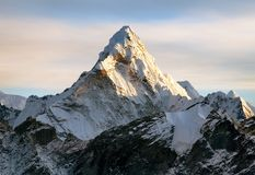 Ama Dablam on the way to Everest Base Camp Stock Photos
