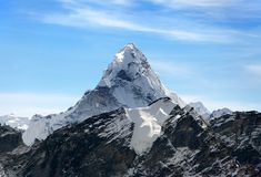 Ama Dablam on the way to Everest Base Camp Royalty Free Stock Photos
