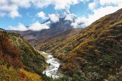 Ama Dablan peak views royalty free stock images
