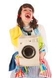 Ama de casa feliz Imagen de archivo