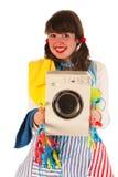 Ama de casa feliz Fotografía de archivo libre de regalías