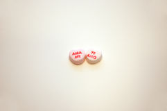 Ama Me Te Amo Valentines Day Conversation Hearts Royalty Free Stock Photo