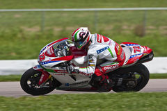 AMA Pro Road Racing:  August 01 Tornado Nationals. Larry Pegram wins for the second time this season at Heartland Park Topeka during the running of the Tornado Royalty Free Stock Image