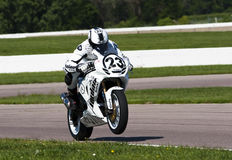 AMA Pro Road Racing:  August 02 Tornado Nationals. AMA Superbike racer, Aaron Yates, travels through the turns at the Tornado Nationals presented by BriggsAuto Stock Images