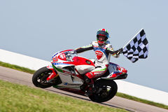 AMA Pro Road Racing:  August 02 Tornado Nationals. Larry Pegram wins for the second time this weekend and the third time this season at Heartland Park Topeka Stock Images