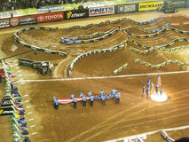 AMA Supercross à Atlanta, la Géorgie Images stock