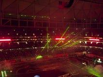 AMA Supercross in Atlanta, Georgië royalty-vrije stock foto's