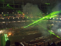 AMA Supercross in Atlanta, Georgia royalty free stock photography