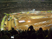 AMA Supercross em Atlanta, Geórgia Fotografia de Stock Royalty Free