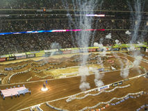 AMA Supercross en Atlanta, Georgia Foto de archivo libre de regalías