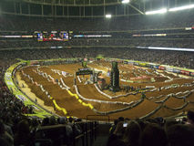 AMA Supercross en Atlanta, Georgia Imagen de archivo libre de regalías