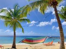 Amaca della spiaggia fotografia stock