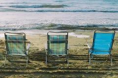 Amaca e spiaggia Fotografia Stock Libera da Diritti