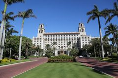 Łamaczy palm beach historyczny hotel Obrazy Stock