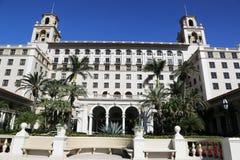 Łamaczy palm beach historyczny hotel Zdjęcia Royalty Free