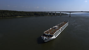 Amadeus Silver II in the first voyage on the Danube river Stock Images