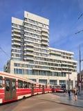 Amadeus som bygger 2014, planlade vid Bedaux de Brouwer arkitekter, Haag, Nederländerna Royaltyfri Foto