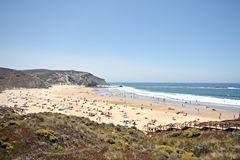 Amado beach in Portugal Stock Photo