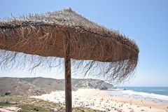 Amado beach in Portugal Royalty Free Stock Photos