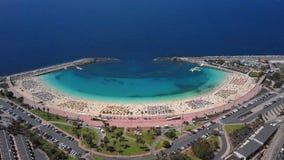 Amadores海滩的鸟瞰图,大加那利岛 股票录像
