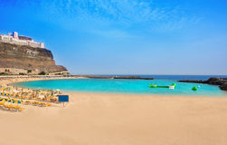 Amadores beach in Gran Canaria Royalty Free Stock Photo