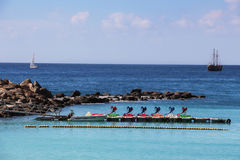 Amadores beach in Gran Canaria, Spain, Europe stock image