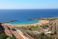 Amadores, Gran Canaria. Amadores beach, Gran Canaria, Spain. Tourist resort area Royalty Free Stock Photography