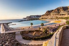 Amadores strand - Puerto Rico, Gran Canaria, Spanien Arkivfoto