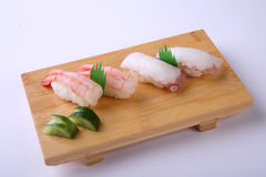 Amaebi Sushi (Sweet Shrimp Sushi) and Tako Nigiri Sushi (Octopus Stock Image
