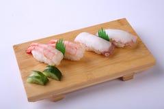 Amaebi Sushi (Sweet Shrimp Sushi) and Tako Nigiri Sushi (Octopus Stock Image