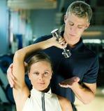 Amaestrador en la gimnasia Imagenes de archivo