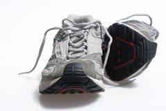 Amaestradores gastados de la zapatilla de deporte Imágenes de archivo libres de regalías