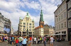 Amager Square (Amagertorv) in Copenhagen, Denmark Royalty Free Stock Photos