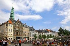 Amager Square (Amagertorv) in Copenhagen, Denmark Stock Image