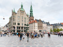 Amagertorv -  central square in Copenhagen Royalty Free Stock Photo
