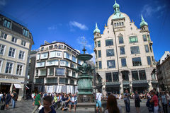 Amagertorv square in Copenhagen, Denmark Royalty Free Stock Photos