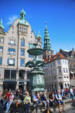 Amagertorv square in Copenhagen, Denmark Royalty Free Stock Photo
