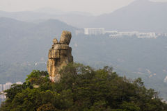 Amah rock of Hong Kong stock photos