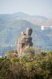 Amah Rock in Lion Rock Country Park, Hong Kong royalty free stock photo