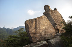 Amah Rock in Lion Rock country park, Hong Kong Royalty Free Stock Photos