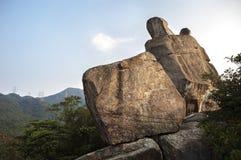 Amah skała w lew skały kraju parku, Hong Kong Zdjęcia Royalty Free