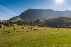 Amaing Autumn Landscape near mount Rigi and lake Luzerne, Alps Stock Photo