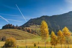 Amaing Autumn Landscape near mount Rigi and lake Luzerne, Alps Royalty Free Stock Photo