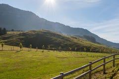 Amaing Autumn Landscape near mount Rigi and lake Luzerne, Alps Stock Image