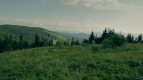 Amaizing Carpathian plateau landscape panorama stock video footage