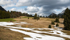 Amaizing mountains meadow in Bavaria Stock Image