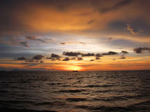 Amaizing sunset Tarutao Royalty Free Stock Image